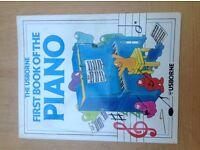 The First Book of the Piano (Usborne first music) By John Miles, Judy Tatchell