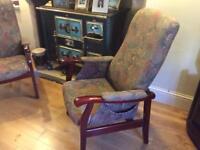Pair cintique fireside chairs
