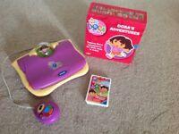 Dora the Explorer V-Tech laptop computer, books & cards