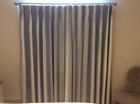 Beautifully made triple pleat curtains with black out lining? Fabric Seaton by John Lewis