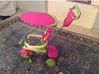 Smart trike spirit pink and green 4 in 1 trike