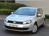 2010 VW GOLF 1.4 S SILVER MANUAL PETROL CAR, FULL SERVICE HISTORY, LOW MILEAGE, JUST SERVICED