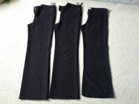 3 x black trousers size 10