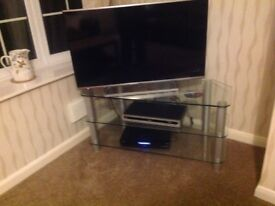 Large glass television stand