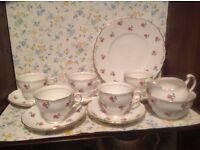 Colclough rose tea set. Very pretty, good condition