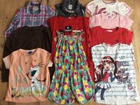 (Large bundle of girl clothes x10 items age 9-10 year, inc Next, Disney, Lee Cooper M&Co + another
