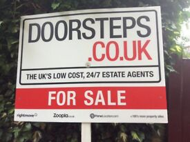 DOORSTEPS Property FOR SALE sign board x 1 (double sided)