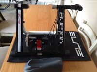 Top of the range Elite Volare turbo trainer with 5 levels of resistance, with mat and front block.