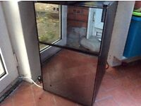 Wine fridge / heater - Two sections - black mirrored - excellent condition