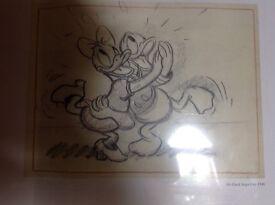 Donald and Daisy original sketch