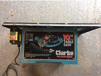 "Clarke 10"" table saw MOD. CTS10C"