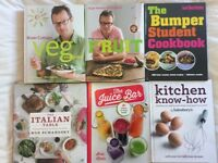 Assorted cookery books, each worth £15-30, all unused. £7 each/ 2 for £12/ all 6 for £34.