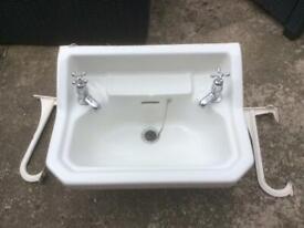 Edwardian antique bathroom sink