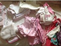 JOB LOT BABY GIRL CLOTHES 0 - 3 MONTHS - WASHED