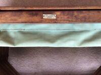 WW2 era wooden concertina camp bed