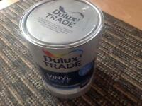 5L tin of white paint almost full, tiny bit used to finish project. Cost £34. Free of any dirt.