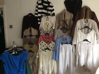 Job Lot bundle 50 items ladies grade A branded mix size clothing, jumpers, coats tops etc CAN POST
