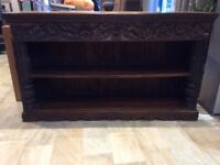 A very pretty Carved Oriental wooden bookcase for sale