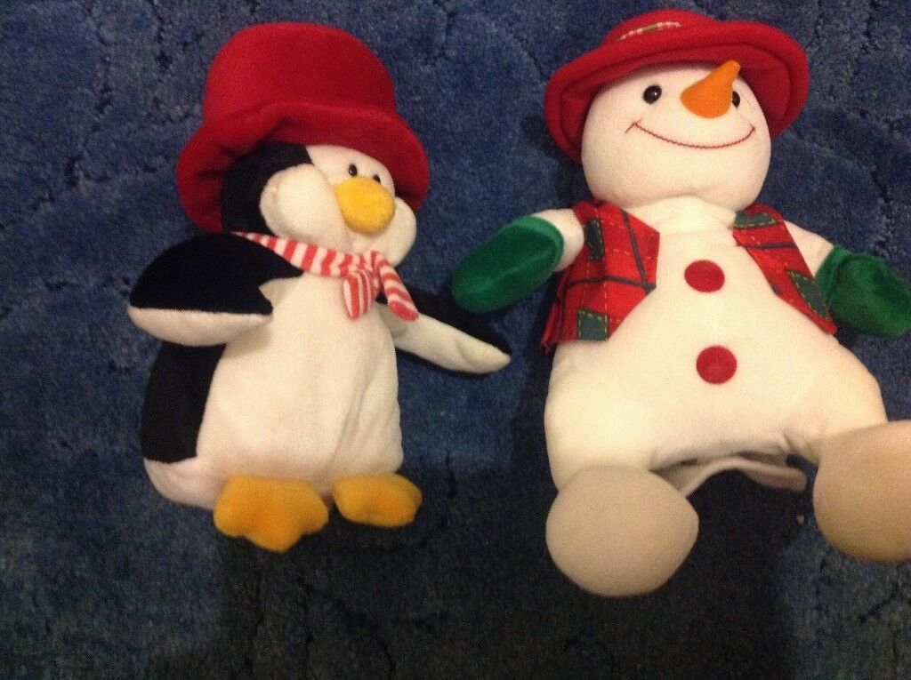 Musical snowman and penguin