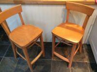 2 x ikea high backed bar chairs