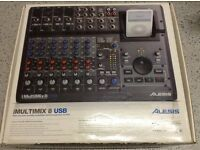 ALESIS IMULTIMIX 8 USB MIXER AND RECORDING WORKSTATION AND UNIVERSAL IPOD DOCK