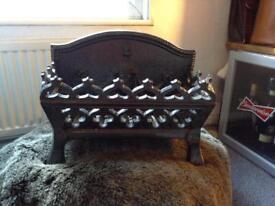 Fireplace Cast Iron log basket