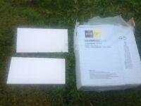 3 boxes White Gloss Homebase Tiles