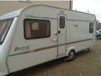 Elddis avante 4 Beth with fitted bed