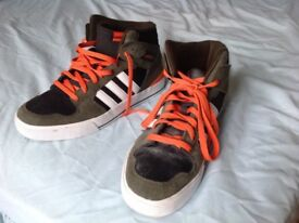 Adidas Neo Label Hi Top Trainers Size UK 9.5 Eur 44