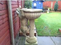 Cotswold stone/Sand stone water feature statue