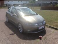 Honda Civic EX I-VTEC 5 door hatchback petrol (55 reg) Grey