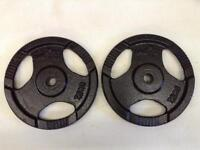4 x 7.5kg WeRSports Standard Tri-Grip Cast Iron Weights