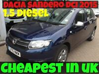 Dacia Sandero DIESEL 1.6 - TOP SPEC - SAT NAV📱💻 £0 road tax! 1st mot 2018!