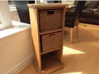 Small Bookcase solid pine/DVD storage