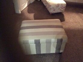 Almost New Storage Footstool.