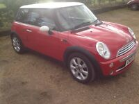 2005 Mini Cooper 1.6,Red,Tested till August,excellent driver and condition,83000mls.