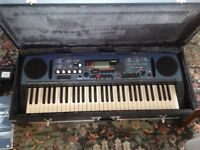 Yamaha DJX portable keyboard with built in speakers