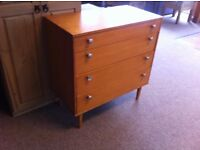 GOOD CONDITION!!! 4 drawer chest of drawers bedroom furniture storage with wooden legs