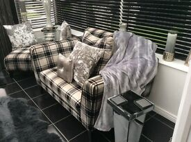 2 cuddle sofas and stool