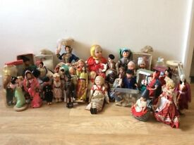 Parents collection of dolls in national costumes kept in a box in a cupboard for over twenty years.