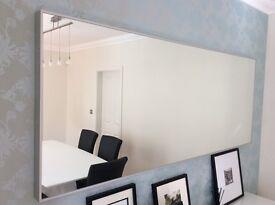 Large IKEA Hovet Aluminium Mirror in excellent condition