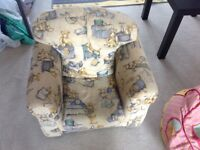 Child size sofa armchair and Barbie bean bag £10
