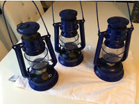 3 CHALWYN TROPIC PARAFIN LAMPS £8 EACH - 3 FOR £20