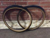 TWO MATCHING Bike Tyres (Bicycle Cycle MTB - fit 26 inch wheels)