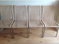 IKEA Dinning chairs set of four wicker and metal