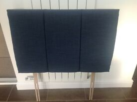 Navy blue single headboard