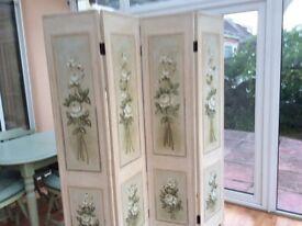 Lovely four screen folding room divider