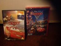 DVDs,cars 1&2,new and used.