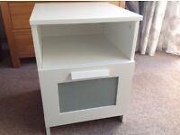 IKEA BRIMNES white bedside table