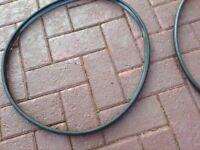 2black rubber alloy wheel protectors
